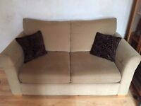 Immaculate and Clean 2 Seater Sofa Bed - Dark Sand Colour