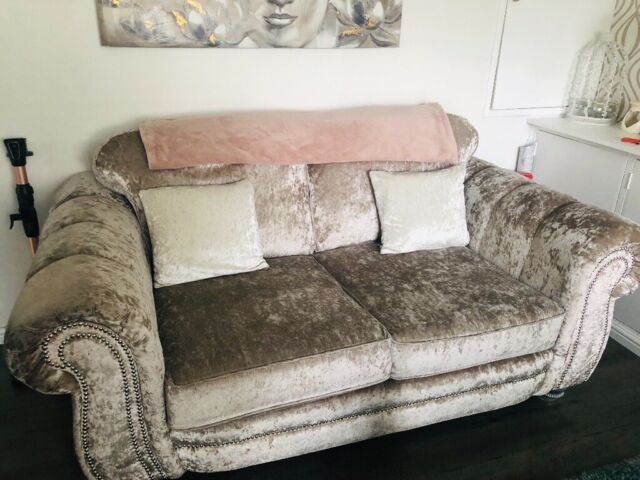 new style fbfd4 e556f SCS crushed velvet sofa | in Dunfermline, Fife | Gumtree