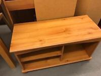 Pine veneer TV unit (not wood so can't be sanded)