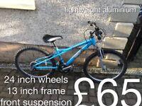 Kids or teens Mountain Bikes £30 - £40 mountain bike cycle commuter student mtb full working order