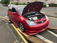Honda Civic ep3 type r breaking modified