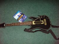 PS4 GUITAR HERO WIRELESS GUITAR CONTROLLER WITH SHOULDER STRAP, DONGLE & GAME