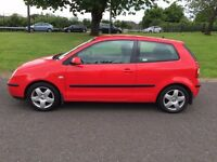 05 Red Volkswagon Polo FSI SPORT 3dr hatchback