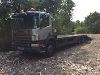 Scania beavertail plant wagon lorry low loader