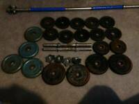 Weights and bars for sale