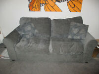 2 seater Grey Sofa bed