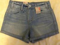 Brand new with tags levis blue denim shorts