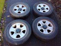 "16"" Wheels with tyres 225/70/16, 5x114.3. Set of 4. Fit: Suzuki, Toyota, Hyundai"
