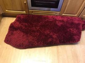 Large wine red rug
