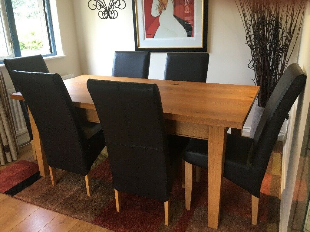 Sensational 6 Brown Leather Dining Chairs In Exeter Devon Gumtree Gamerscity Chair Design For Home Gamerscityorg