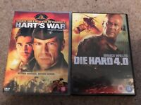 Bruce Willis films - harts war and die hard 4.0
