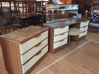 Retro Bedroom dressing table and drawers set