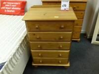 Pine chest of drawers - British Heart Foundation sco39426