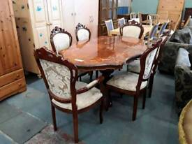 Italian Style DiningTable With Six Chairs - Delivery Available