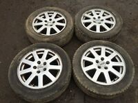 """For sale - Ford Mondeo / focus / transit connect 16"""" alloy wheels 205/55/16 - excellent tyres"""