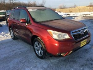 2014 Subaru Forester 2.5i Touring, Automatic, Leather, Pan Roof,