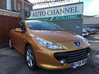 Peugeot 307 CC 2.0 16v Sport 2dr£2,685 p/x welcome FREE WARRANTY. NEW MOT