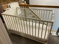 Baby cot and mattress 2 available