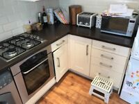 Complete kitchen including oven, hob and fridge/freezer