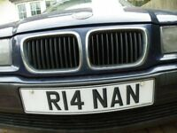 R14NAN, on BMW316, auto, valid MoT, 100k miles, 4 good tyres, ready to drive away and transfer plate