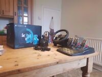 Logitech G27 | Steering Wheel + Pedals + Shifter | Racing PC, Playstation 3, PS3
