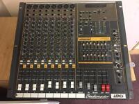 Studiomaster Horizon 1208 powered mixer plus KAM speakers/stands