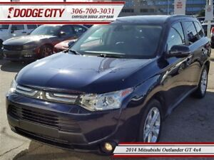 2014 Mitsubishi Outlander GT | 4x4 | PST PAID - Heated Leather,