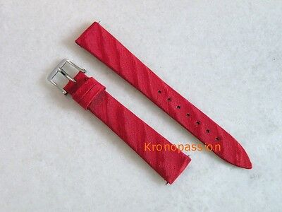 Blancpain Red Satin Strap with Blancpain Stainless Steel Buckle OEM New !