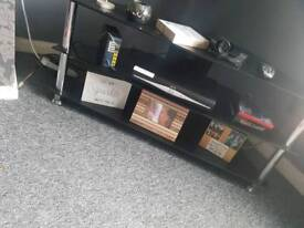 Black 2 tier tv stand