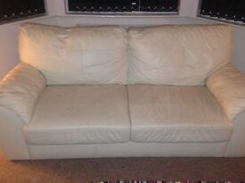 Three seater cream leather sofa need gone asap