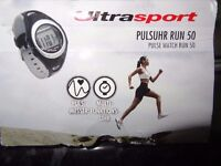 Ultrasport Heart Rate Monitor with Chest Strap Run 50/Mint Condition...
