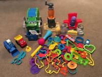 Play-doh bundle, 60+ pieces inc recycling truck & Minions hair salon