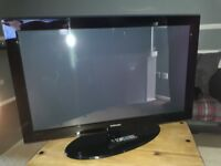 "42"" Samsung plasma TV with stand- PS42B430P2W"