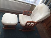 Dutailier Glider Chair & Footstool