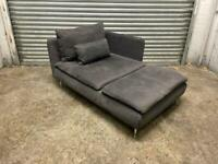 FREE DELIVERY IKEA SODERHAMN CHARCOAL GREY CHAISE LONGUE SOFA GOOD CONDITION