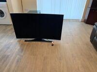 "55"" Samsung UE55HU7200 Curved 4k Ultra HD Freeview Freesat HD Smart LED TV"