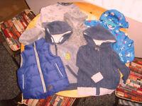 Boys bundle of clothes. 6 items. Age 2-3 coats, tops bundle.