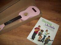 Pink Ukulele plus instruction book with CD