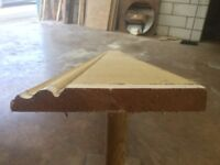 PINE SKIRTING BOARD LARGE SECTION OVOLO / CLASSIC PROFILE REMOVED FROM A DEVON HOUSE
