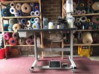Emery Carpet Whipping/Edging machine In Good Working Order, Some Wool &Filament