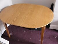 John Lewis extendable wooden table. Solid wood