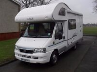 STUNNING 2006 SWIFT ACE MILANO 5 BERTH OCB MOTORHOME IN WHITE WITH GREY / BLUE LIVERY