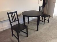 IKEA Dining Table and Two Chairs (MUST GO, LEAVING COUNTRY!!)