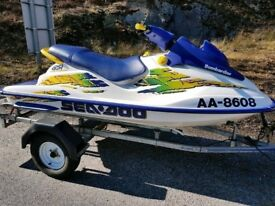 seadoo gsi jet ski 1997 23 hours dry stored and in new condition time warp stunning