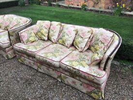 Two sofas, hardly used, kept in dry storage. Read on...