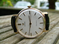 100% Genuine Gorgeous Solid 9k Gold Vintage Omega Geneve Swiss 34mm Watch SERVICED WARRANTY