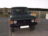 Classic Range Rover TD 4 door MOT until December. Several spares included.
