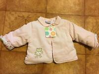 Girls pink jacket age 1month+ BRAND NEW
