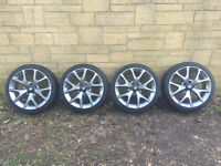 """Vauxhall Corsa VXR 18"""" Alloy Wheels & Tyres Recently Refurbished Excellent Condition"""