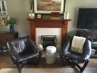 John Lewis Tufted Leather Chairs